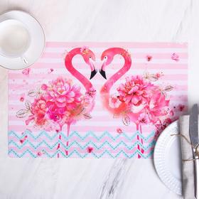 Салфетка на стол «Фламинго», 43 × 28 см