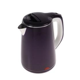Чайник электрический LuazON LSK-1811, пластик, колба металл, 2.3 л, 2000 Вт, фиолетовый