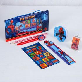 Письменный набор  в коробке-подушке, Человек-паук