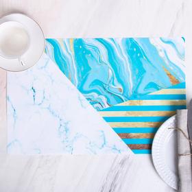 Салфетка на стол «Голубой мрамор», 43 × 28 см