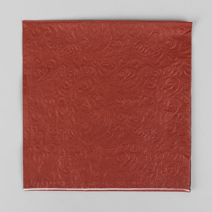 Салфетки бумажные однотонные, выбит рисунок, набор 20 шт.