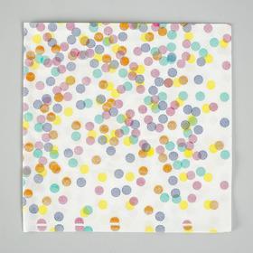 Салфетки бумажные «Конфетти», набор 20 шт., 33х33 см