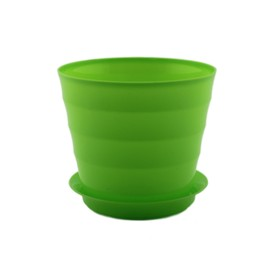 Пластиковый горшок с поддоном «Лаура», цвет лайм