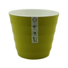 Пластиковый горшок с вкладкой «Лаура», цвет фисташковый