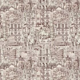 Обои виниловые на флизелине Vilia 1047-62 Европа, бежево-серая, 1,06х10 м