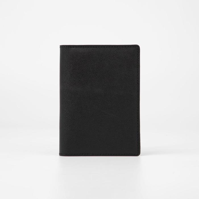 Обложка для автодокументов и паспорта, карманы для карт, цвет чёрный