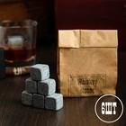 """Камни для виски """"Whiskey stones"""", в крафт пакете, 6 шт"""