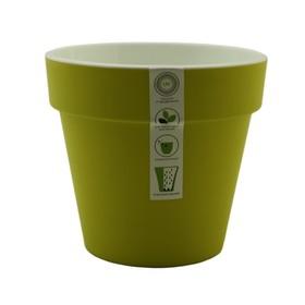 Пластиковый горшок с вкладкой «Протея», цвет фисташковый