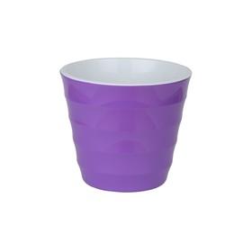 Пластиковый горшок с вкладкой «Лаура», цвет фиолетовый