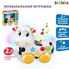 Музыкальная игрушка-каталка «Корова», световые и звуковые эффекты, работает от батареек