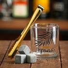 """Набор """"Лучший день"""", стакан 200 мл, щипцы, камни для виски"""