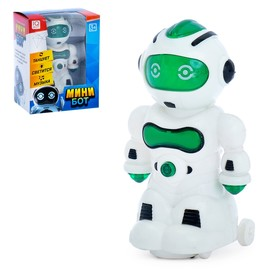 Mini Bot robot, lighting and sound effects, powered by batteries, MIX color.