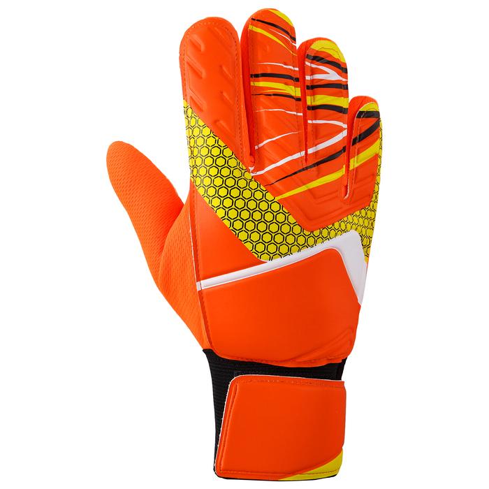 Перчатки вратарские, размер 8, цвет оранжевый