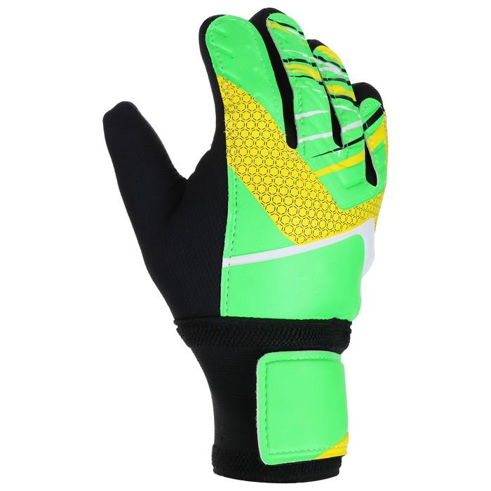 Перчатки вратарские, размер 8, цвет салатовый - фото 727846205