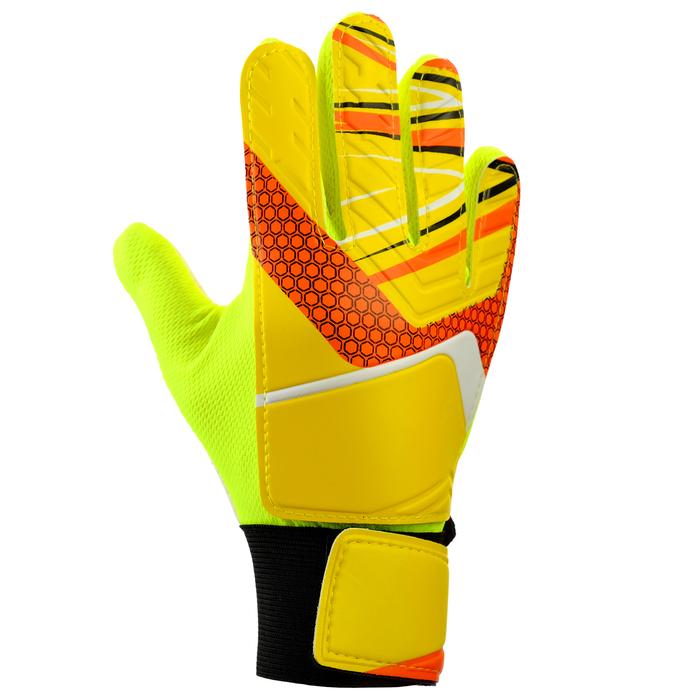 Перчатки вратарские, размер 5, цвет жёлтый - фото 798158234
