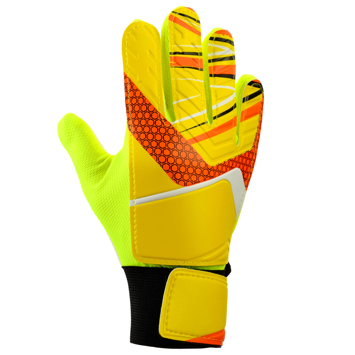 Перчатки вратарские, размер 5, цвет желтый