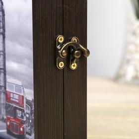 "Ключница ""Лондон"" декобокс"" 14х19 см  Венге - фото 4682257"