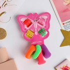 "Set of hair ""Butterfly"" (4 crab, 4 erasers) strip"