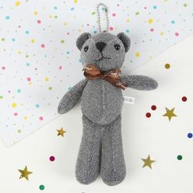"""Soft toy-suspension """"Bear bow"""" 19 cm, MIX color"""