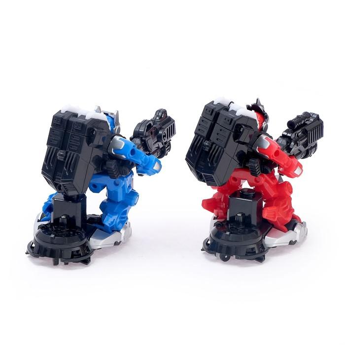 Набор радиоуправляемых роботов «Сражение воинов», световые и звуковые эффекты, работают от батареек