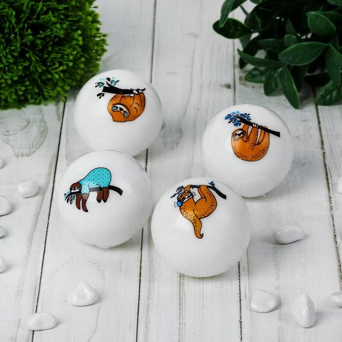 Мяч световой «Ленивец», 5,5 см, виды МИКС