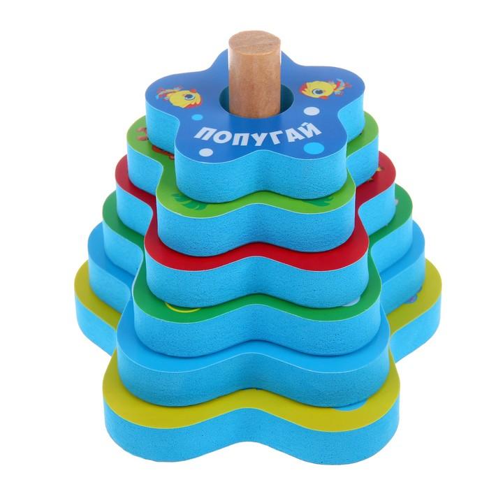 Игрушка - пирамидка для купания «Африка» - фото 687069986
