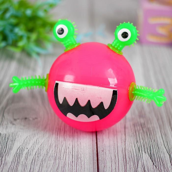 Мяч световой «Чудик», 6,5 см, цвета МИКС