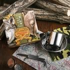 """Набор посуды """"Удачной охоты"""", кружка 200 мл, тарелка, мультитул, карабин, чехол"""