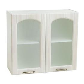 Шкаф навесной 800 Милана Сандал мат.белый/Белый/Кризет