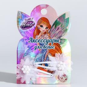 A set of children: hairpins, fairies VINKS: Bloom 2 pcs, MIX (textiles).