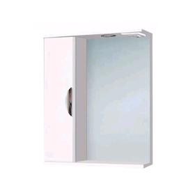 """Зеркало-шкаф """"Ника 600 со светом"""" левое арт. 11409"""