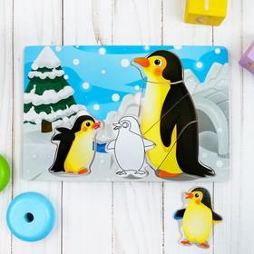 """Рамка-вкладыш с основой под роспись """"Пингвины"""""""
