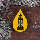 "Wooden icon ""YANAO.A drop of oil"", 5x6,8 cm"