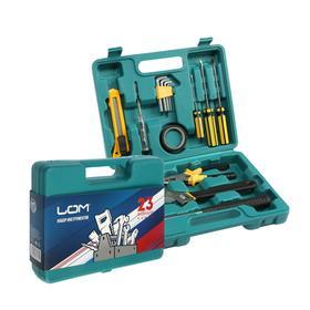 Набор инструментов в кейсе LOM '23 Февраля', подарочная упаковка, 15 предметов Ош