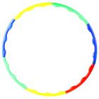 Обруч разборный, d=70 см, толщина 2 см, цвета МИКС
