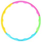 Обруч разборный, d=80 см, толщина 4 см, разноцветный