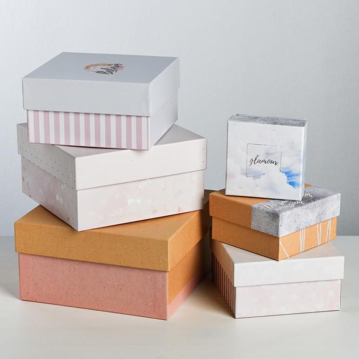 Набор подарочных коробок 6 в 1 «Нежный тренд», 8 × 8 × 4.5‒18 × 18 × 9.5 см