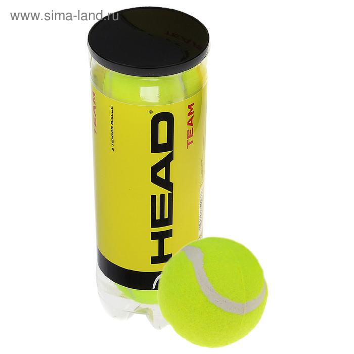 Набор мячей теннисных HEAD Team 3B, цвет желтый