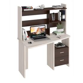 Компьютерный стол, 1200 × 720 × 1520 мм, левый угол, цвет карамель/венге