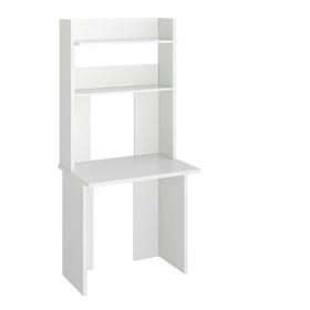 Компьютерный стол, 800 × 600 × 1785 мм, цвет белый жемчуг