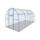 Каркас теплицы «Оптима III-Цинк», 8 × 2 × 1,9 м, оцинкованная сталь, профиль 20 × 20 мм, без поликарбоната