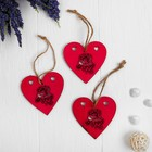 The set of pendants with a rose-3 PCs.