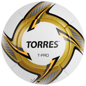 Мяч футбольный TORRES T-Pro, F31899, размер 5, PU, термосшивка