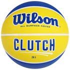 Мяч баскетбольный WILSON Clutch 285, WTB14198XB06, размер 6, резина, сине-жёлтый