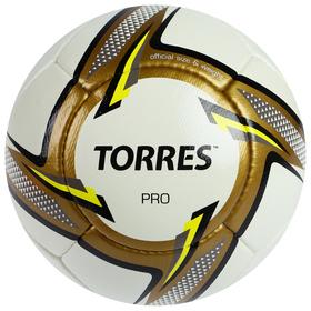 Мяч футбольный TORRES Pro, F31815, размер 5, 32 панели, PU, ручная сшивка
