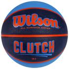 Мяч баскетбольный WILSON Clutch 285, WTB14196XB06, размер 6, резина, чёрно-сине-оранжевый