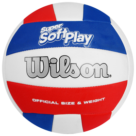 Мяч волейбольный Wilson Super Soft Play, WTH90219XB, размер 5, PVC, машинная сшивка