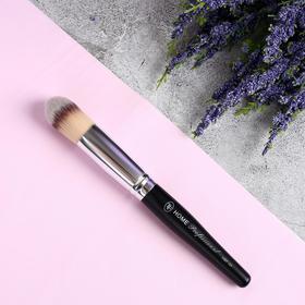 Кисть для макияжа «Home Professional», 16 см, цвет чёрный