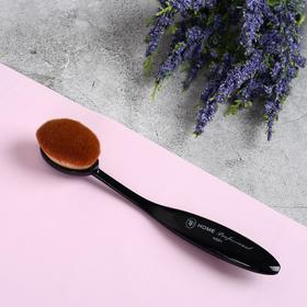 Кисть для макияжа, цвет чёрный, 61508