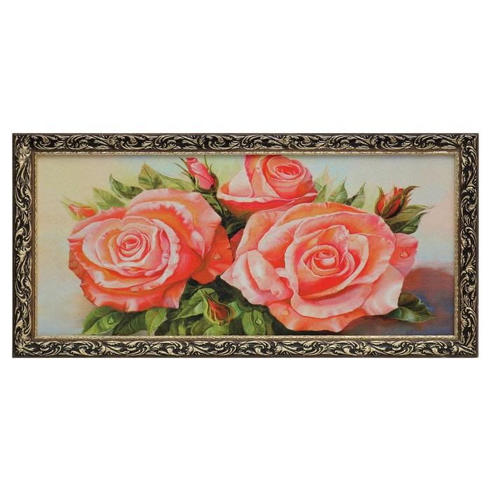 "Гобеленовая картина ""Букет роз"" 45х85 см"
